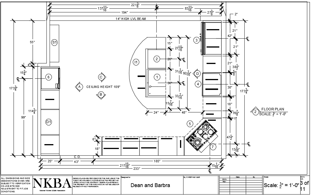 KITCHEN DESIGN AUTOCAD